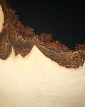 Massivholzkante Schmuckkante Nussbaum Wandkunst
