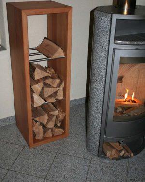 Brennholzregal Ofenbank