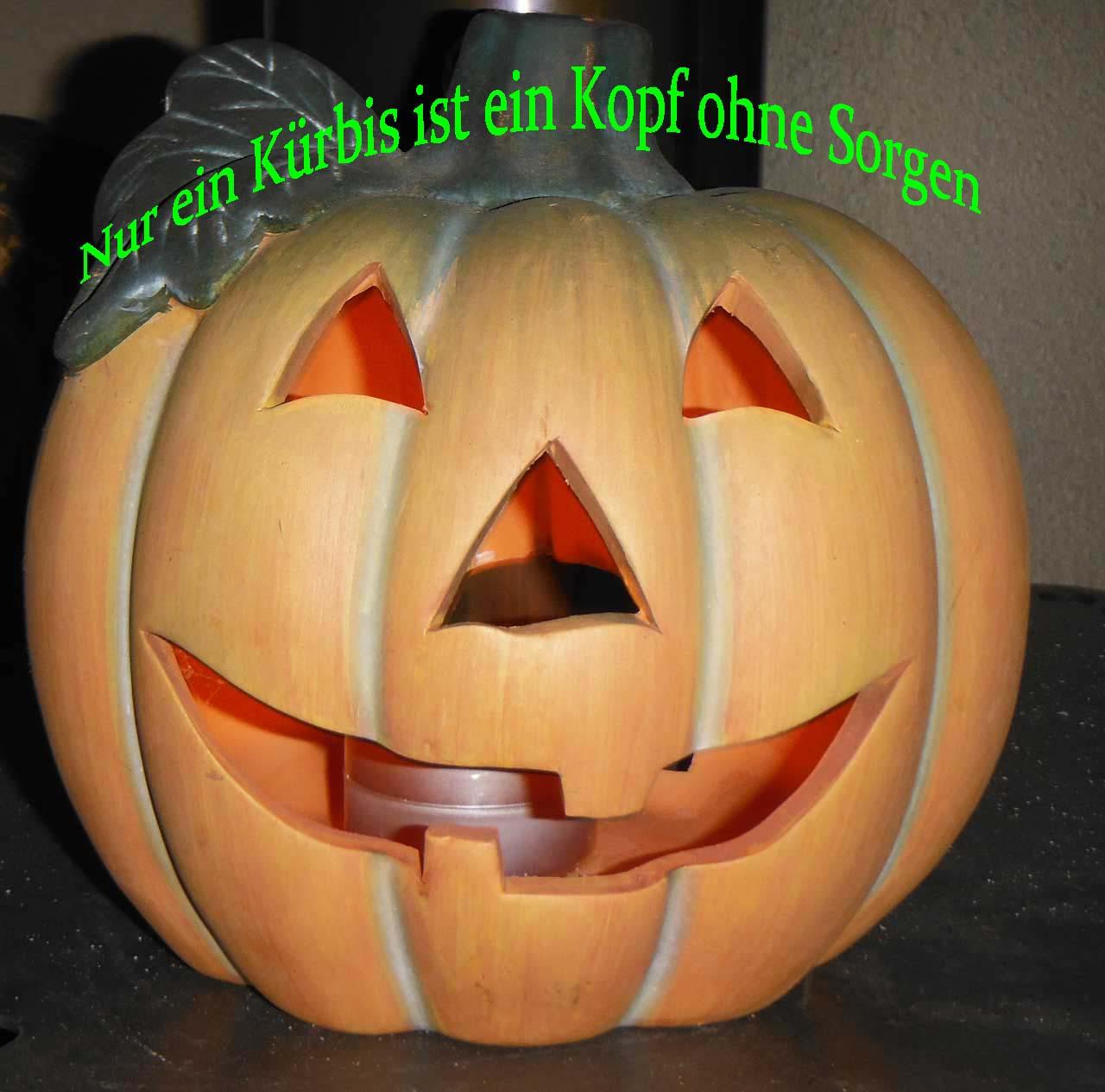 Halloween Kürbis mit Zitat
