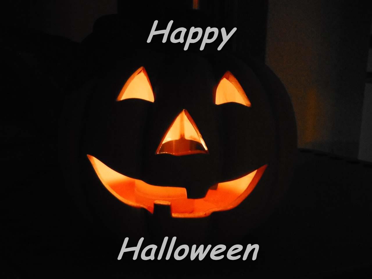 Halloween Kürbis Kerze Happy Halloween
