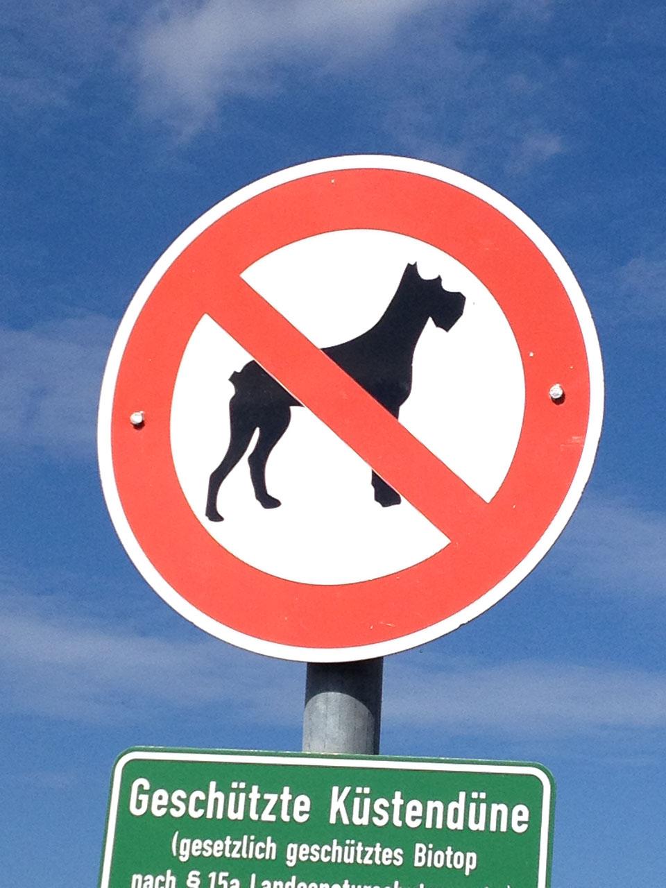 Hundeverbot Schild