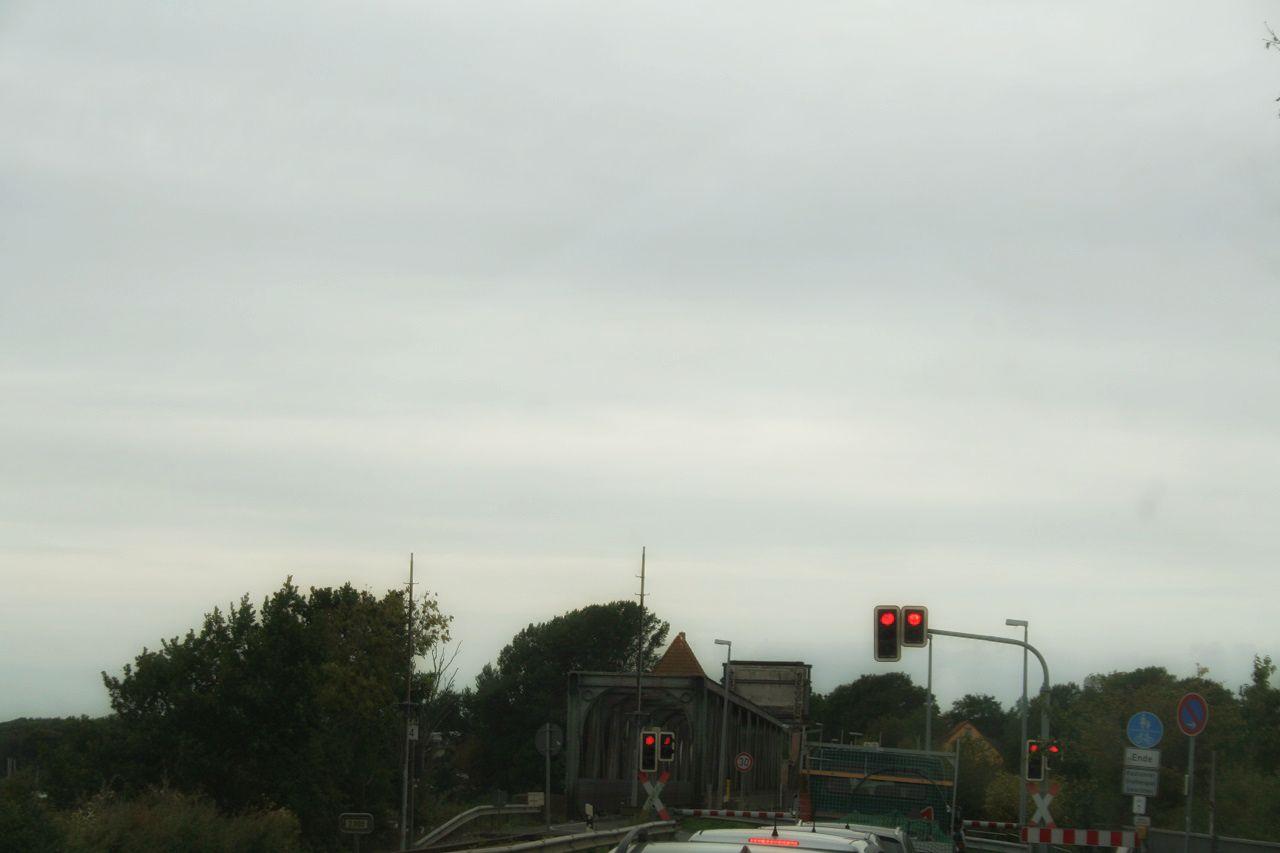 Ampelanlage Lindaunisbrücke